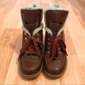Marc by Marc Jacobs Sherpa Wedge Sneaker Boots